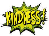 Comic book explosion bubble kindness