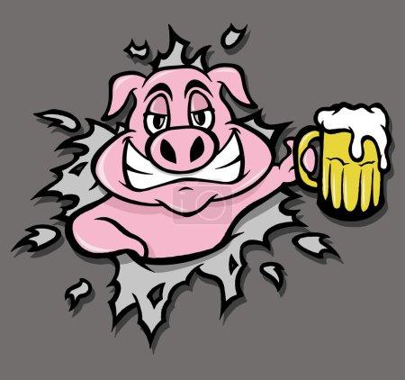 Drunk pig