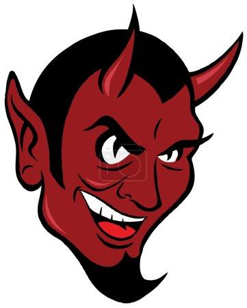 Smiling devil face.