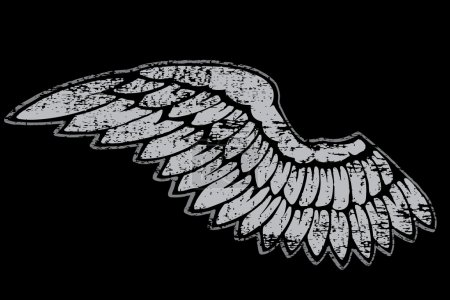 Illustration pour Vector Hand drawn ailes d'ange - image libre de droit