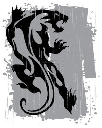 Black panther illustration