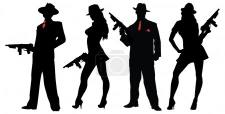 gangsters people with guns