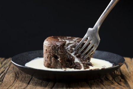 Chocolate Lava Cake and fresh cream