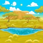 African landscape. Vector natural illustration...