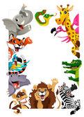 Lustige Gruppe Dschungel Tiere