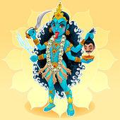 Kali goddess Vector illustration