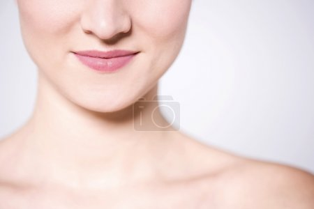 woman face and bare shoulders