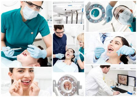 Dentist collage at stomatology clinic