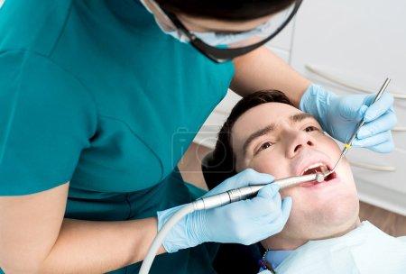 Man during oral checkup
