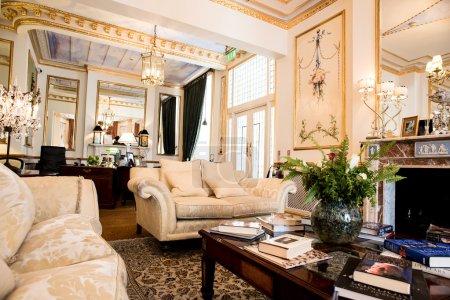 Modern living room with sofa
