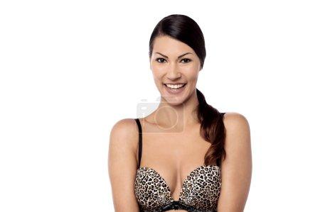 woman in sexy designer bra