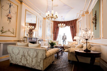 Room with sofa in luxury mansion
