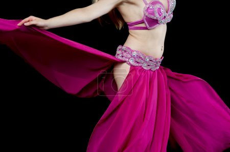 Photo for Cropped image of a female belly dancer performing - Royalty Free Image