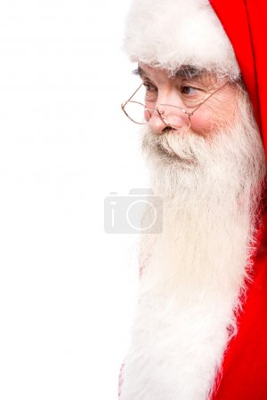 Photo for Santa Claus in spectacles looking away - Royalty Free Image