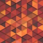 Seamless orange vector hipster pattern. Vector ret...