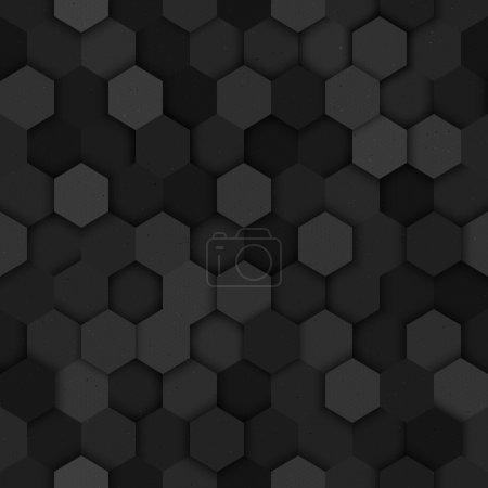 Illustration for Seamless technology vector dark seamless pattern. Vector seamless dark structure. Vector seamless dark wallpaper - Royalty Free Image