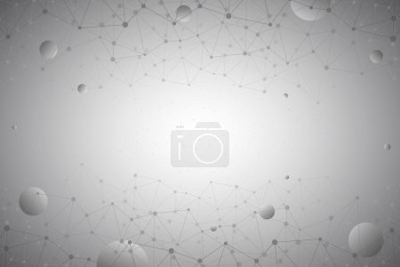 3d Abstract Vector Technology Gray Background