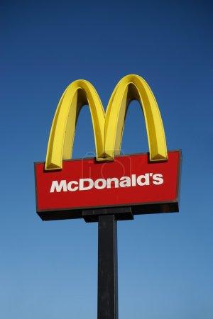 McDonalds logo on blue sky