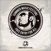 summer music festival stamp