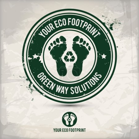 Alternative eco footprint stamp