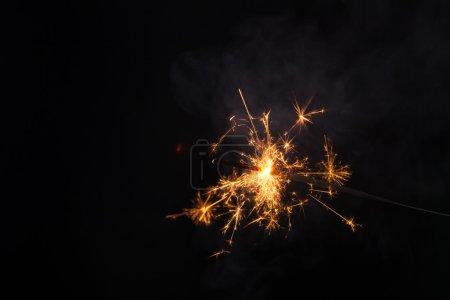 Photo pour Sparkler, étincelle, lueur, fumée - image libre de droit
