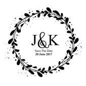 Wedding invitation rustic frame vector