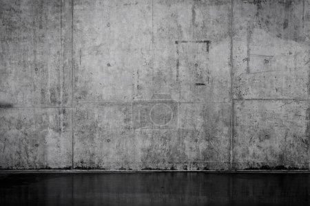 Foto de Muro de hormigón desnudo Grungy y liso para el fondo - Imagen libre de derechos