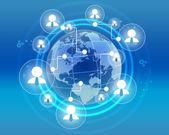 Ikony podnikatelé v rámci kombinované sítě