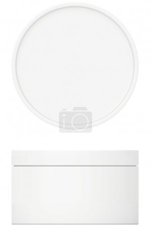 Photo for Template white cream for body cream, lotion or gel with lid - Royalty Free Image