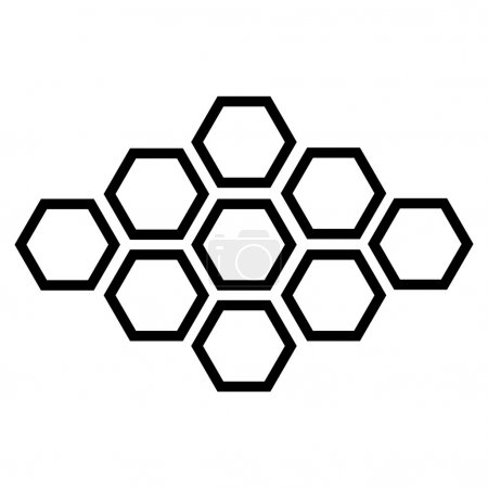 Illustration for Vector black hexagonal icon on white background. eps 10 - Royalty Free Image