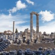 General view of ruins of Apollon Temple in Didyma ...