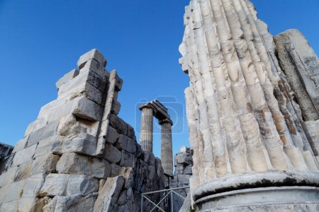 View of Apollon Temple in Didyma Ancient City in A...