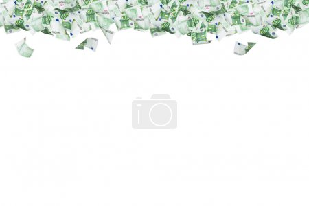 Euro Banknotes on Top Border