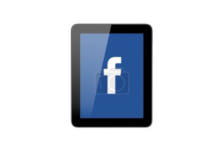 Значок Facebook на планшетном ПК