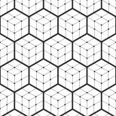 Vector Seamless Pattern of Hexagons Triangles Pattern Dotted background Geometric background Abstract Black and White Background Isometric background Three-dimensional Vector regular Texture
