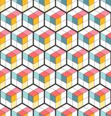 Vector Seamless Cubic Pattern Abstract Background Geometric background Grid Pattern Isometric background of hexagons Three-dimensional Pattern Zigzag background Vector regular Texture