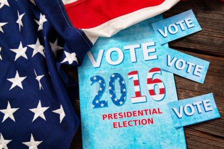 Photo pour Composition des objets impliquant l'élection présidentielle aux Etats-Unis - image libre de droit