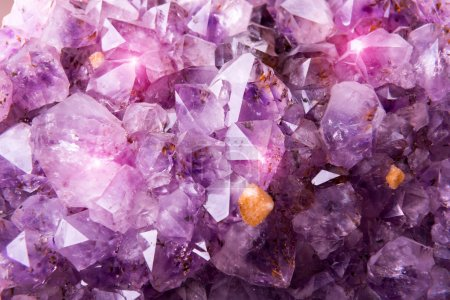 Detailed natural amethyst