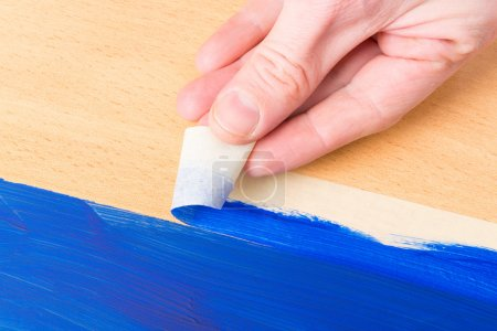 Painting with masking tape