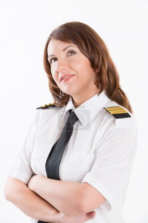 Airline pilot standing