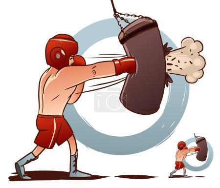 Boxer on a white background