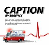 template for presentation with ambulance car