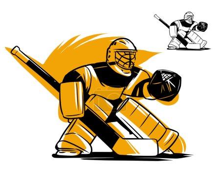 Hockey goalkeeper in helmet