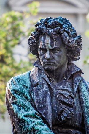 Photo pour Statue de Ludwig van Beethoven à Vienn - image libre de droit