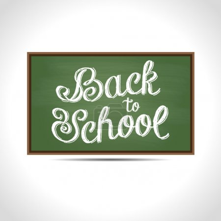 Back to School vector Illustration. Text on a gree...