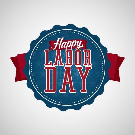 Happy Labor Day Badge Label