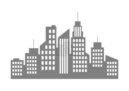Photo for Grey city icon on white background - Royalty Free Image