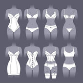 Fashion lingerie set of various female underwear
