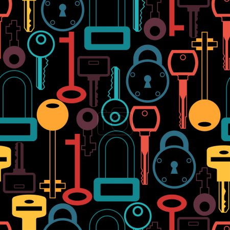 Seamless pattern with locks and