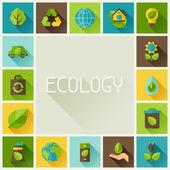 Ekologie rám s ikonami prostředí